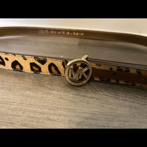 Michael Kors genuine leather leopard belt